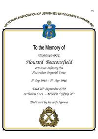 Book of Remembrance for Beaconsfield