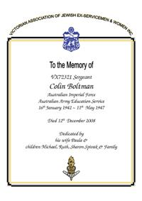 Book of Remembrance for Boltman