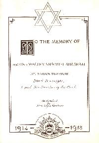 Book of Remembrance for Abraham