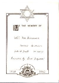 Book of Remembrance for Benjamin