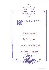 Book of Remembrance for Binstock