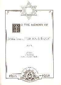 Book of Remembrance for Bloch