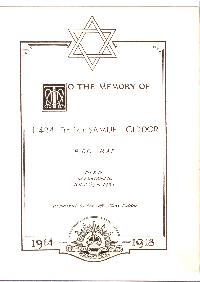Book of Remembrance for Ciddor