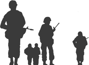 VAJEX Silhouette Soldiers